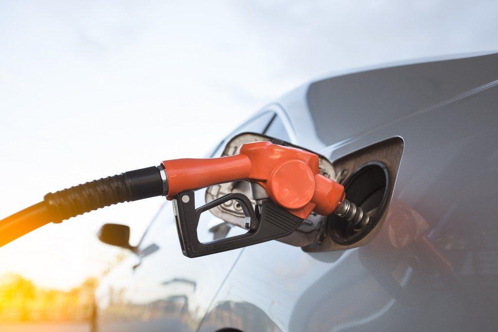 Car getting gas