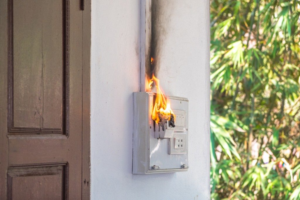 Switch on fire because of power surge