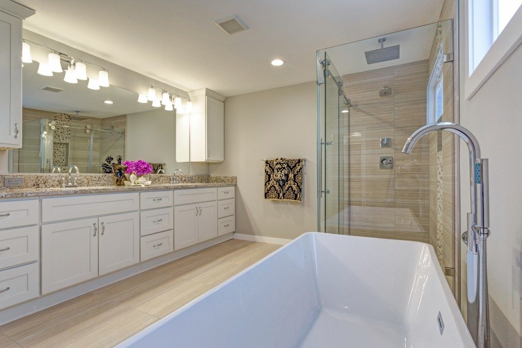 large bathroom interior