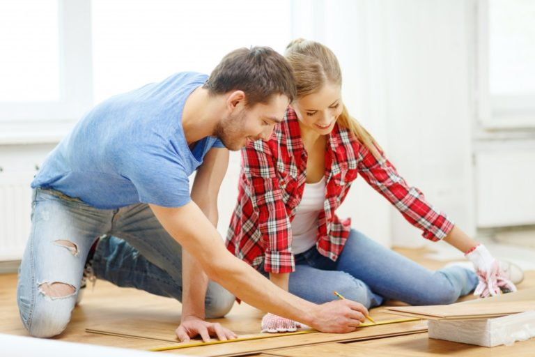 couple remodeling their home