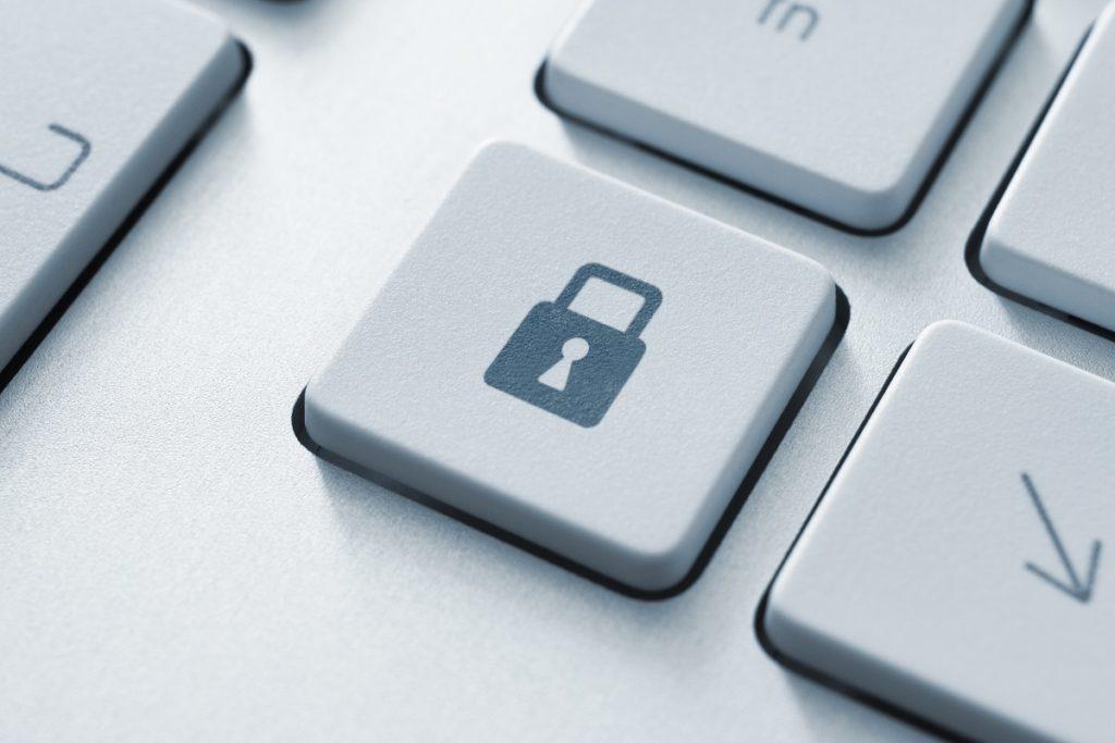 lock on keyboard concept