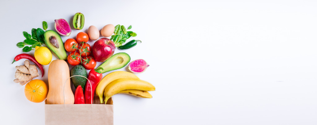 healthy food from grocery