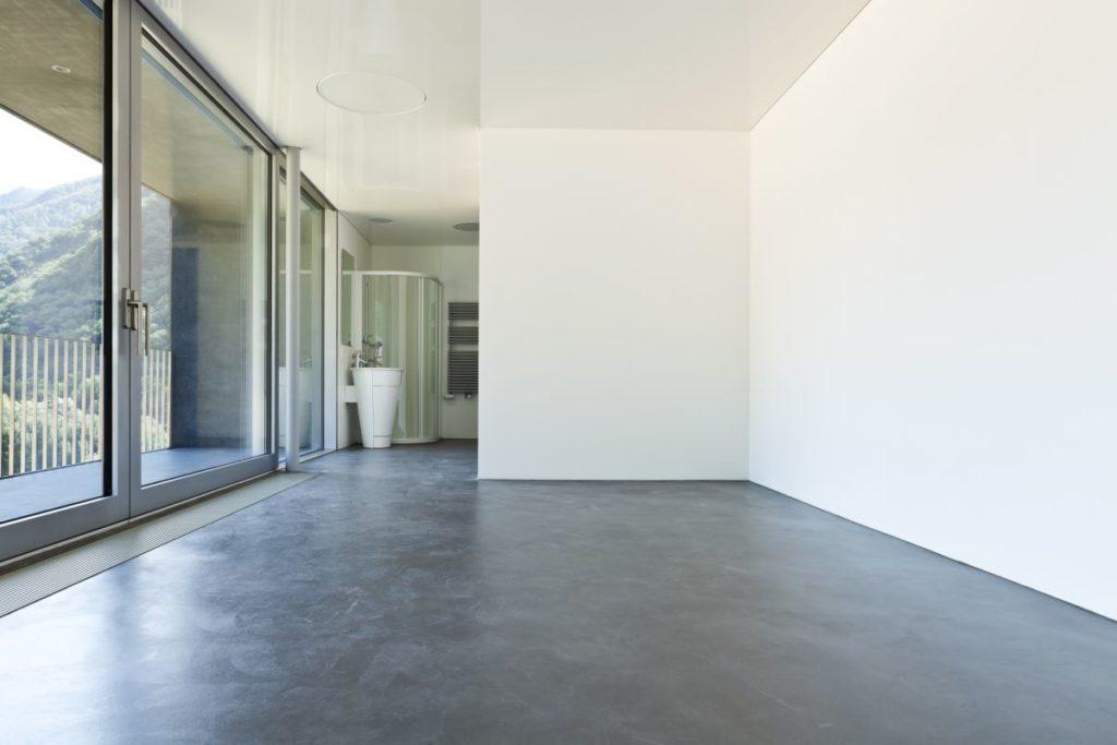 empty room with sliding glass doors