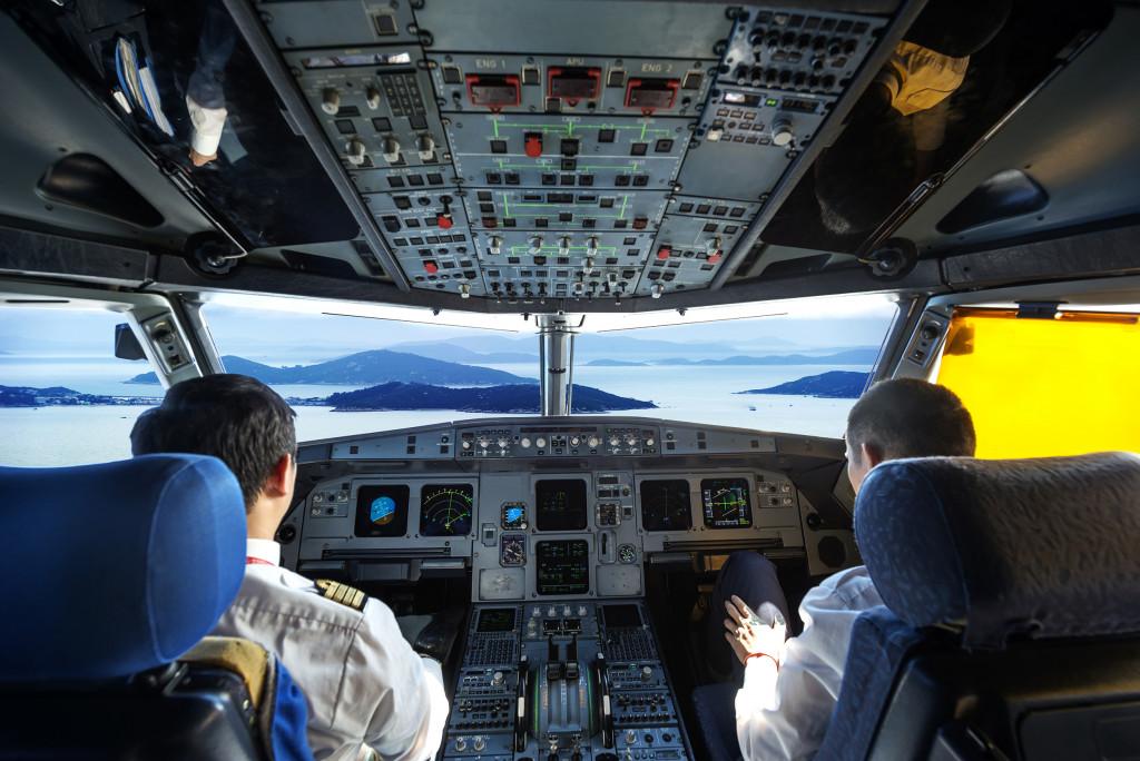 airplane's cockpit